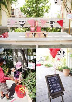 Super cute carnival party game ideas — rubber ducky fishing, knock over cans, etc.