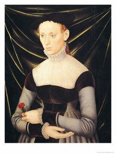 Lucas Cranach the Elder - Woman with a Carnation