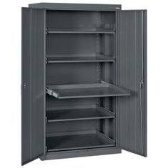 Sandusky 66 in. H x 36 in. W x 24 in. D Steel Heavy Duty Storage Cabinets with Pull-Out Tray Shelf in Tropic Sand ET52362466-04LL at The Home Depot - Mobile