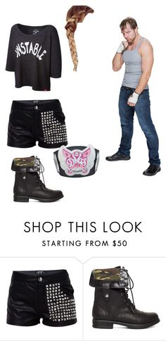 """Dylan and Dean calling out Kevin Owens"" by thesambella ❤ liked on Polyvore featuring 2b bebe"