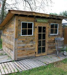 How To Build A Shed From Recycled Wood Pallets And Tin Cans - http://www.homesteadingfreedom.com/how-to-build-a-shed-from-recycled-wood-pallets-and-tin-cans/