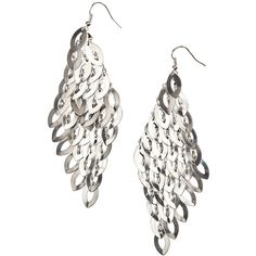 H Earrings £4.99 ($7.90) ❤ liked on Polyvore