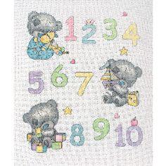 Anchor Tiny Tatty Teddy 1 to 10 Cross Stitch Kit