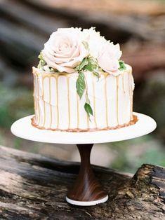 One Tier Cake, One Layer Cakes, Single Tier Cake, Small Wedding Cakes, White Wedding Cakes, Wedding Cake Designs, Wedding Ideas, Wedding Inspiration, Sweet 16 Cakes