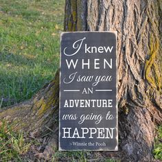 I knew when I saw you an adventure was going to by GrabersGraphics, $45.00