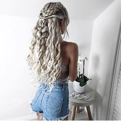 Love her #braid and her #curl hairstyle