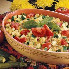 Tomato-Zucchini Casserole - recipe found on tasteofhome.com - I just drooled a little bit.  ;)