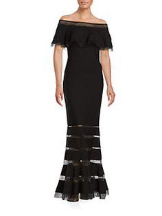 Tadashi Shoji - Off-The-Shoulder Gown