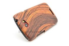 Click Image to Browse: $7.95 Wood Grain Textured Hard Case Cover For HTC One S