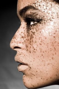 Freckles and glitter.