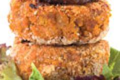 Pumpkin, kumara and walnut patties with feta and avocado – Recipes – Food Hub