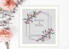 Cross Stitch Pattern Wedding Personalized Love Tree wedding   Etsy Wedding Cross Stitch Patterns, Modern Cross Stitch, Cross Stitch Kits, Cross Stitch Designs, Bohemian Baby Nurseries, Pattern Pictures, Sewing Patterns For Kids, Tree Wedding, Embroidery Kits
