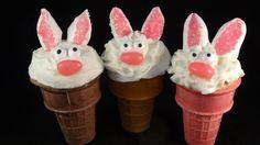 Bunny Cone Cupcakes - with yoyomax12