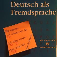 Quero aprender alemão - Deutsch als Fremdsprache: Palavras que confundem: sich erinnern, merken e bemerken