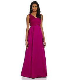 Adrianna Papell Sleeveless V-Neck Gown | Dillard's Mobile