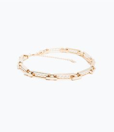 ZARA - NEW THIS WEEK - CHAIN AND PEARL NECKLACE