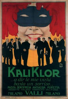 Achille Luciano Mauzan e Agenzia MAGA, KaliKlor toothpaste,1921 (by laura@popdesign)