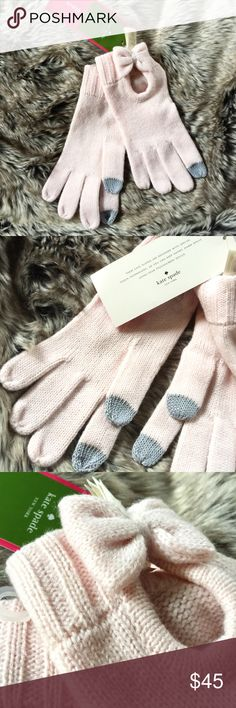 Kate Spade Tech-Friendly Gloves Winter is coming! Brave the cold weather with Kate Spade accessories.   Details: Warm Kate Spade New York gloves with coated fingertips for easy touchscreen use. Petite bows accent the ribbed cuffs. Made up of 70% acrylic and 30% wool.   Kate Harrington Boutique does not trade or negotiate price in the comment section. However, for most items we may consider reasonable offers.   Happy Poshing! kate spade Accessories Gloves & Mittens