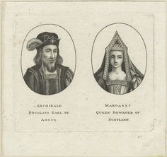 Archibald Douglas, 6th Earl of Angus and Margaret Tudor after Unknown artist etching, possibly 17th century