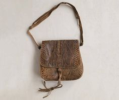 vintage snakeskin crossbody bag