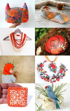 Orange blue september afternoon by Gioconda Pieracci on Etsy--Pinned with TreasuryPin.com