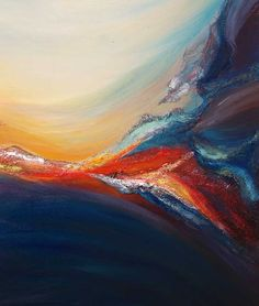 Purchase Daybreak Abstract Painting in the Liz W Art Gallery! Original Contemporary Fine Art Paintings to Inspire your Life & Style Your Home!