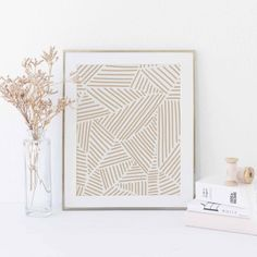 Modern Abstract Simple Art Print Beige Tone Organic Shape Minimalist Wall Art Print or Canvas Simple Wall Art, Diy Wall Art, Modern Wall Art, Wall Art Decor, Wall Art Bedroom, Simple Artwork, Room Decor, Simple Prints, Teen Bedroom