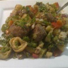 Chicken Sausage Tortellini Stir-Fry