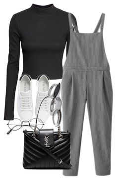 """Untitled #809"" by strangebirdd ❤️ liked on Polyvore featuring H&M, WithChic, Prada, Yves Saint Laurent and Iosselliani"