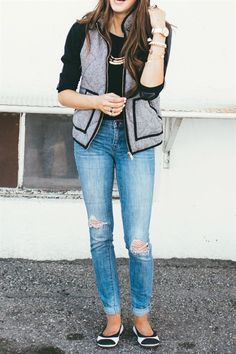 Our designer inspired herringbone vest is THE piece to make all of those layered winter outfits amazing.