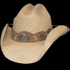 9a9982ea477 Straw Hat w  chin cord and country music hat band