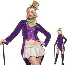 Magical Candy Maker Halloween Costumes for Women Willy Wonka and the Chocolate Factory style