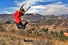 """ELATION"" with Naomi Henn #ianbaileyphotography #ianbaileytravelphotography #hollywood #travel #travler #contiki #ilovemyjob #fly #elated #picoftheday #pod #followme #jump"