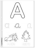 Láminas imprimibles de la A a la Z (28 páginas)   Cada página es una ficha dedicada a una letra, empezando por la A y terminando en la Z....