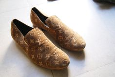 Louis Vuitton Men's Velvet Loafer shoes size 8 1/2 with by iwtb