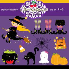 Halloween Day Digital Clip Art-Personal and Commercial Use - paper crafts, card making, scrapbooking on Etsy, $4.50