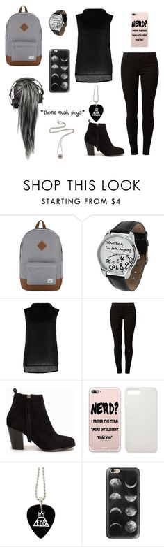 """""""Untitled #989"""" by yyyyyx ❤ liked on Polyvore featuring Herschel Supply Co., Boohoo, Dorothy Perkins, Nly Shoes, Casetify and David Yurman"""