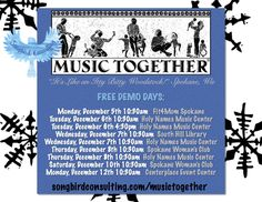Music Together in Spokane, WA! www.songbirdmusictogether.com/musictogether