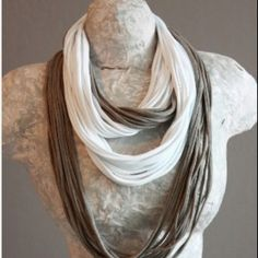 DIY scarf from old t shirt