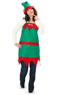 d94f0f1b0cb Elf Holiday Apron and Hat Adult. White ShirtsElfDress ...