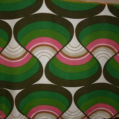 1970's Art Fabric I wish this was wallpaper in my home. #delicious