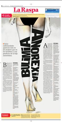 Anorexia, infographic by Valentin Perez