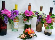 Wedding Reception Centerpieces Wine bottle Toppers by AmoreBride, $59.00