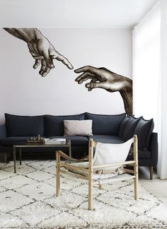 """""""These 20 Mesmerizing Wall Murals Inspired By Masterpieces Will Teach You Some… Related The Space 562 View Floor Wallpaper mural Floor Mural Wall Print Decal Wall Deco Indoor wall Mural. Wall Murals Bedroom, Mural Wall Art, Bedroom Decor, Bedroom Sets, Wall Painting Decor, Wall Drawing, Unique Wall Art, Wall Design, Design Design"""