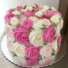 Swirled Roses Cake