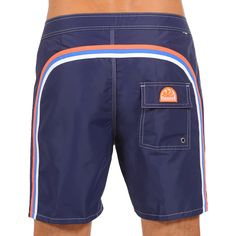 LONG SWIM SHORTS WITH RAINBOW BANDS COLOR DARK BLUE 3 (M503BDTA100-196) | Man Sundek