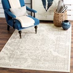 Safavieh Adirondack Vintage Distressed Ivory / Silver Rug (9' x 12') - Free Shipping Today - Overstock.com - 16068704 - Mobile