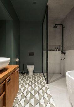 Luminaires Design Et Déco Scandinave Dans Un Appartement Ultra Moderne.  Salle De Bain ...