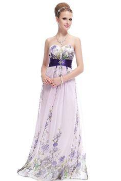 Strapless Chiffon Maxi Dress | Dresscab