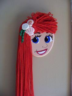 Little Mermaid Hair Bow Holder. So cute!